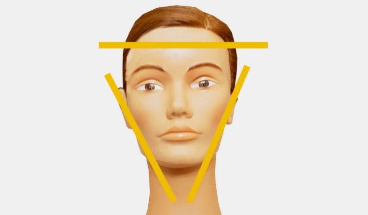 Invertierte Dreiecksgesichter Und Passende Frisuren