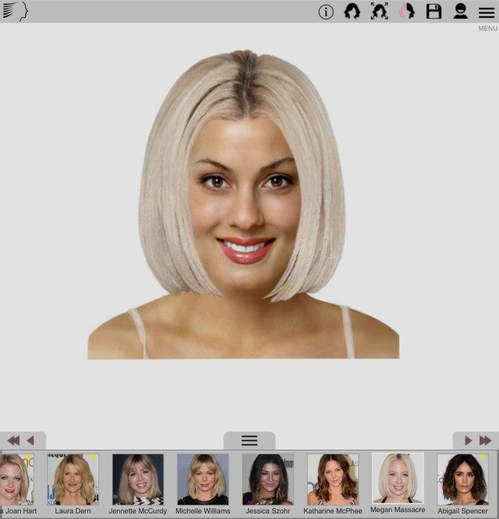 Haarfarbe testen foto