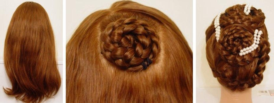 Frisuren halblanges haar hochstecken