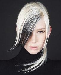 Kreative Frisuren Von Pop Art Inspiriert Mit Dramatischen