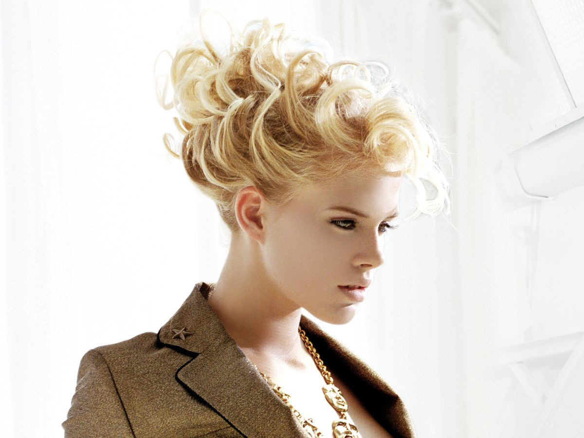 Extravagante Hochsteckfrisur Ausgefallene Hochgesteckte Frisur Mit