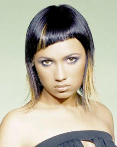 Frisuren halblang zweifarbig