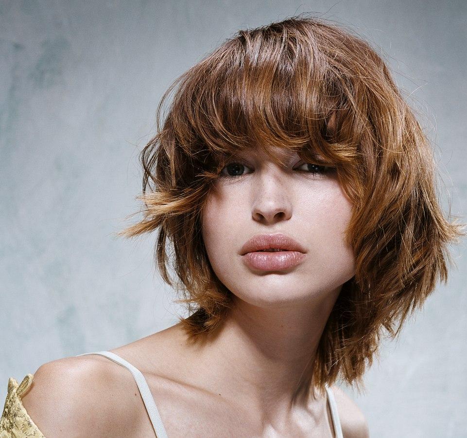 Frisuren rundschnitt mittellang