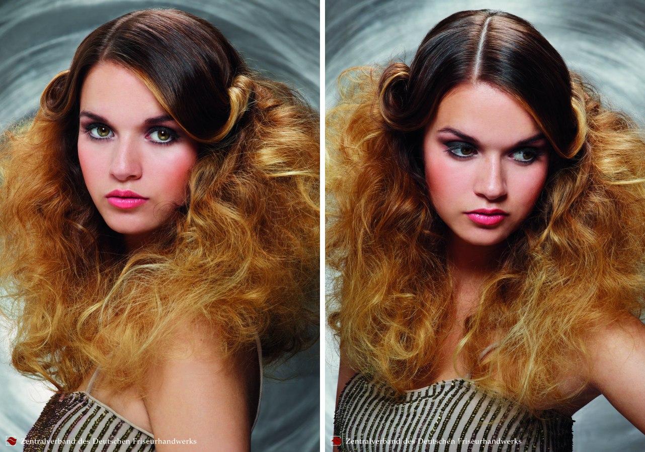 Extravagante Sommerfrisur Fur Langes Haar Mit Toupierter Gelockter